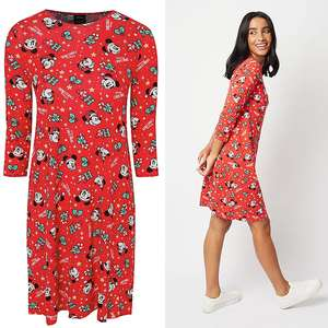 Disney Mickey and Minnie Mouse Christmas Dress (Adult Sizes) £6.30 At Checkout - Free Click & Collect @ George