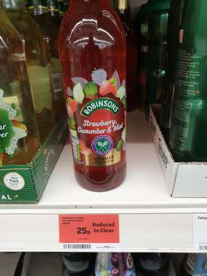 Robinsons Fruit Cordial 25p at Sainsburys Wiltshire