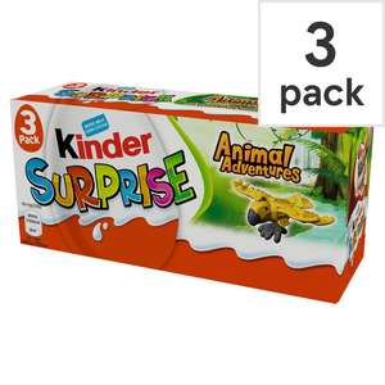 Kinder Surprise 3 pack £1.50 also 80p single one @ Asda