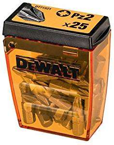 Dewalt 1 X Dewalt Screwdriving Bits Set 25 x PZ2 25 Piece in Tic Tac Box £3 Add On Item @ Amazon