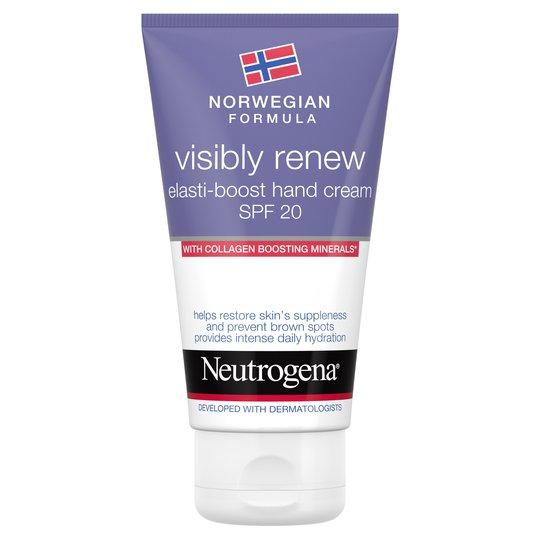 Neutrogena Norwegian Formula Visibly Renew Elasti-Boost Hand Cream SPF20 With Collagen-Boosting Minerals, 2 For £5 @ Tesco In Store & Online