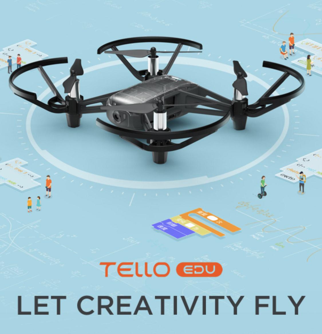Ryze DJI Tello drone - EDU edition £118.48 delivered @ Ebuyer