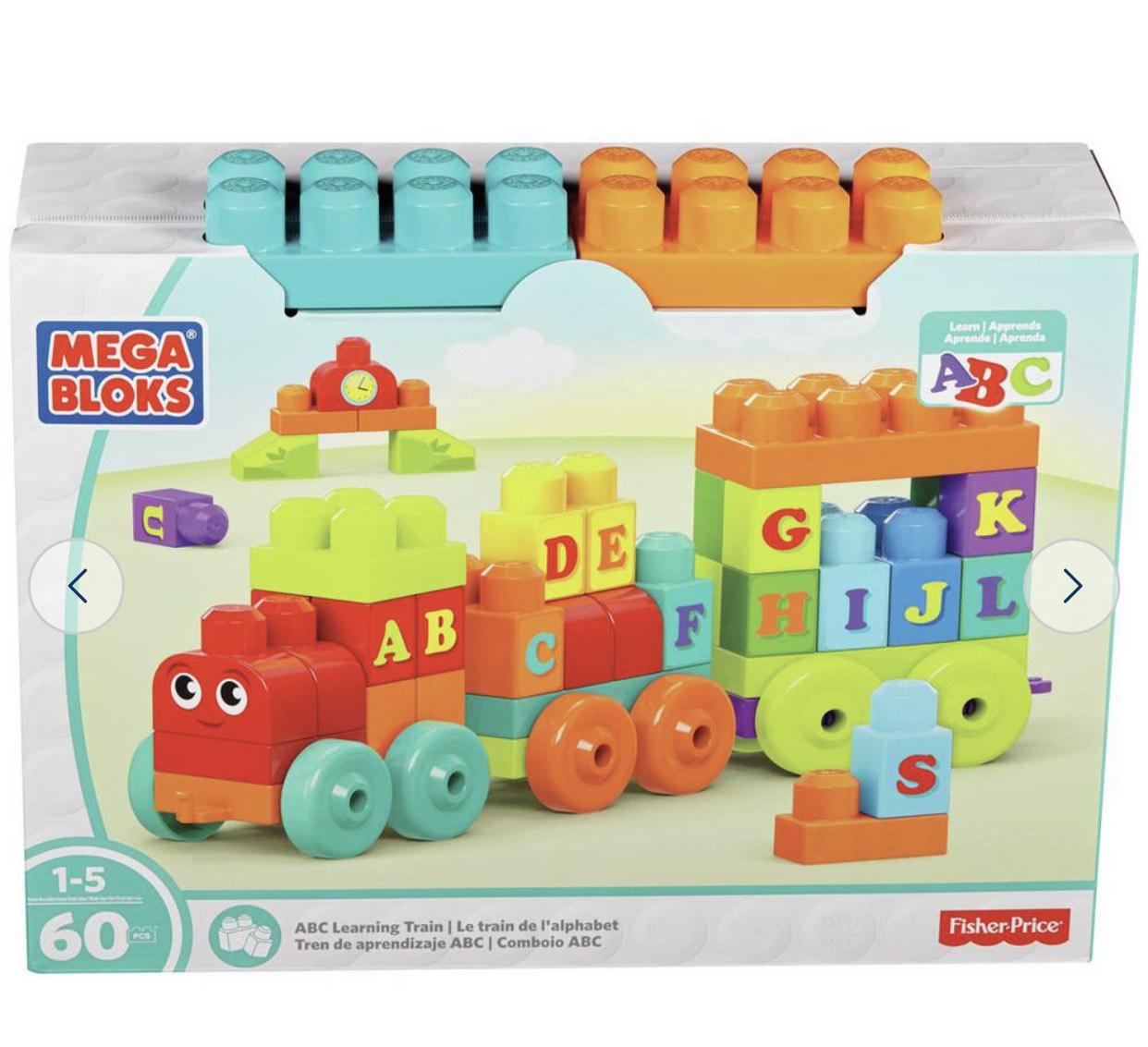 Mega Bloks ABC Learning Train 60pc £6.40 @ Argos
