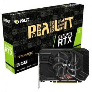 Palit GeForce RTX 2060 StormX 6GB Graphics Card £259.72 with code @ Ebuyer