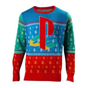 Sony Playstation Tokyo '94 Knitted Christmas Jumper - GeekCore