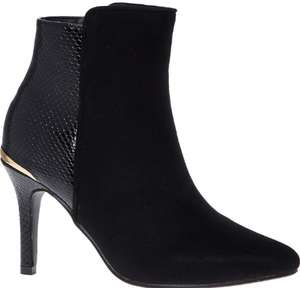 Menbur Black Pointed Heeled Ankle Boots £29.99 +£1.99 click and collect (3 other colours available) @ Tk Maxx