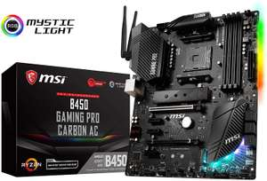 MSI B450 GAMING PRO CARBON AC AM4 DDR4 ATX WIFI + BT Motherboard £115.56 @ Amazon