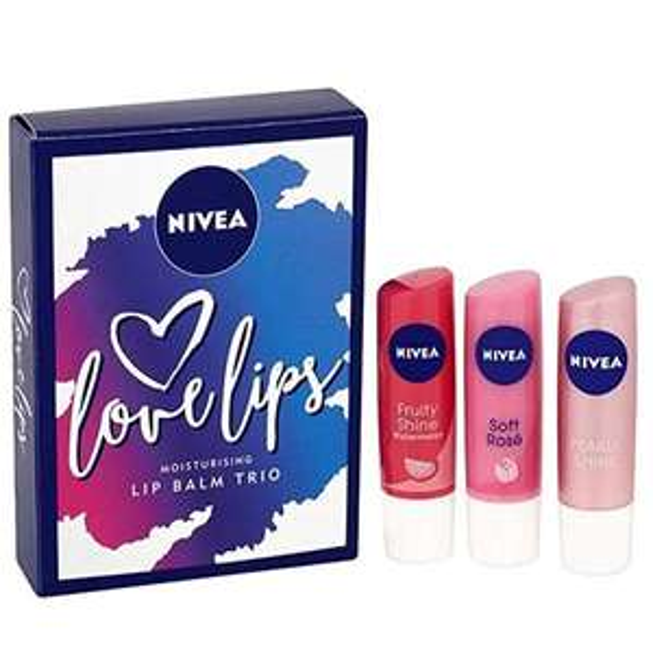 Nivea Love Lips Lip Balm Gift Set 3 Piece £1 @ Poundshop (£5.95 P&P / free over £20)