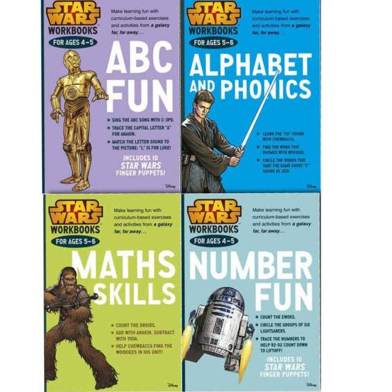 Star Wars 4 Work Books Set - Make Learning Fun (Ages 4-6) Paperback £4.50 delivered