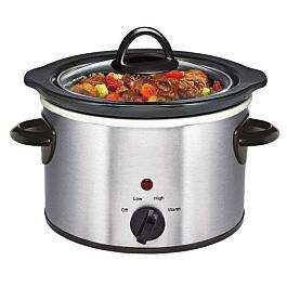 Daewoo 1.5L Manual Slow Cooker - Stainless Steel - £7.64 (Free Click & Collect) using code @ Robert Dyas