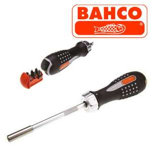 Bahco 808050 Ratchet Screwdriver and 6 Bits £9.99 @ Amazon (+£4.49 Non-prime)