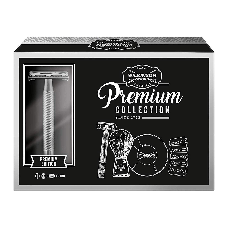 Wilkinson Sword Classic Double Edge Safety Razor, +Shaving Brush, +Soap Bowl +5 blades £13.25 @ Amazon (+£4.49 Non-prime)