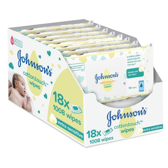 Johnson's Baby Cotton Touch Wipes 18X56 Pieces £9.50 @ Tesco