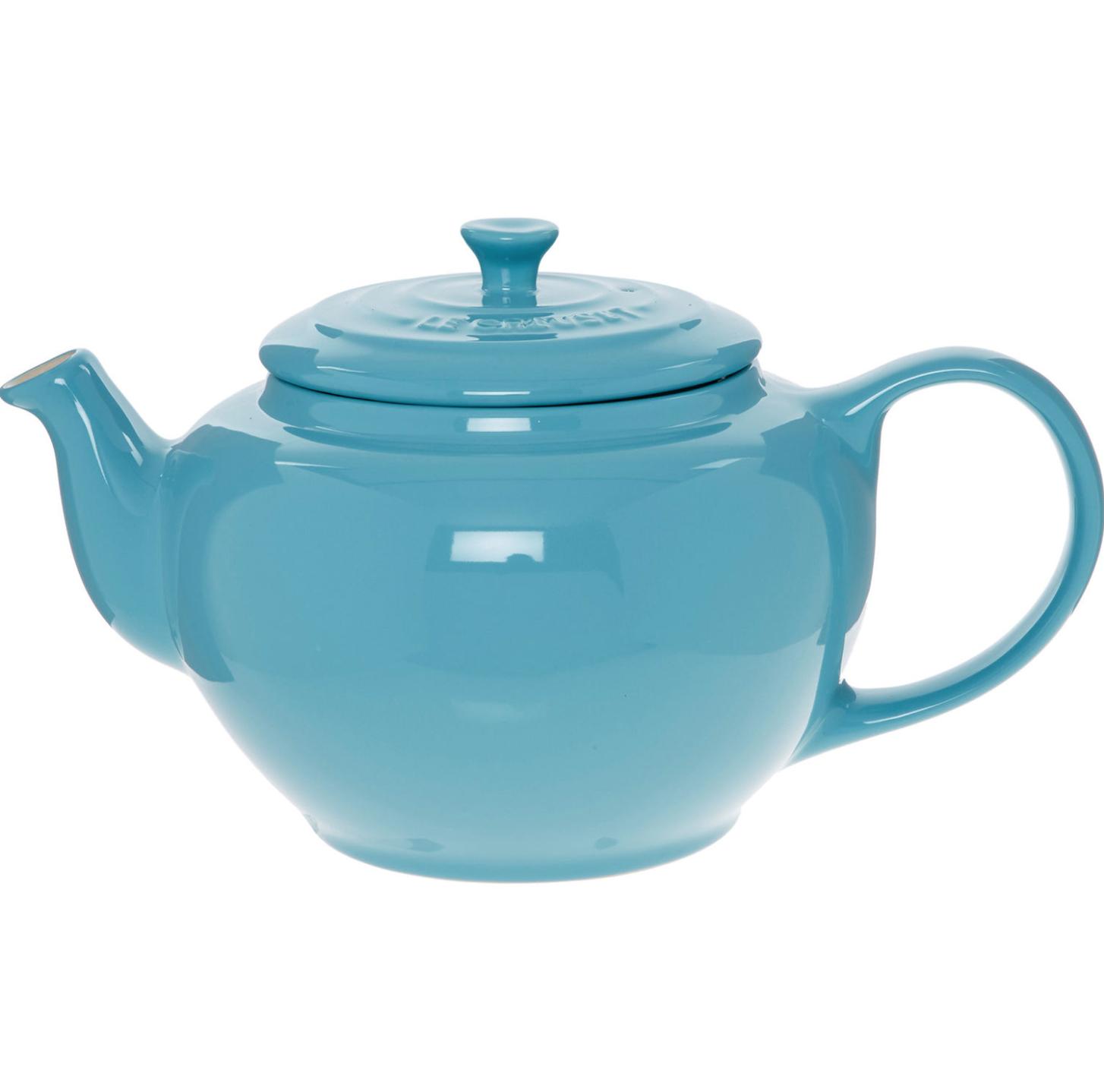 Le Creuset Eau De Nil Round Teapot 14x26cm - £12.99 + £1.99 Click and Collect / £3.99 delivery @ TK Maxx