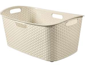 Curver My Style 47L Laundry Basket - Cream or Grey - £4.24 with code + Free Click & Collect @ Robert Dyas