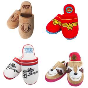 Wonder Woman, Star Wars, Suicide Squard and Guardians of the Galaxy Slippers £4.99 with free UK delivery @ Geekstore