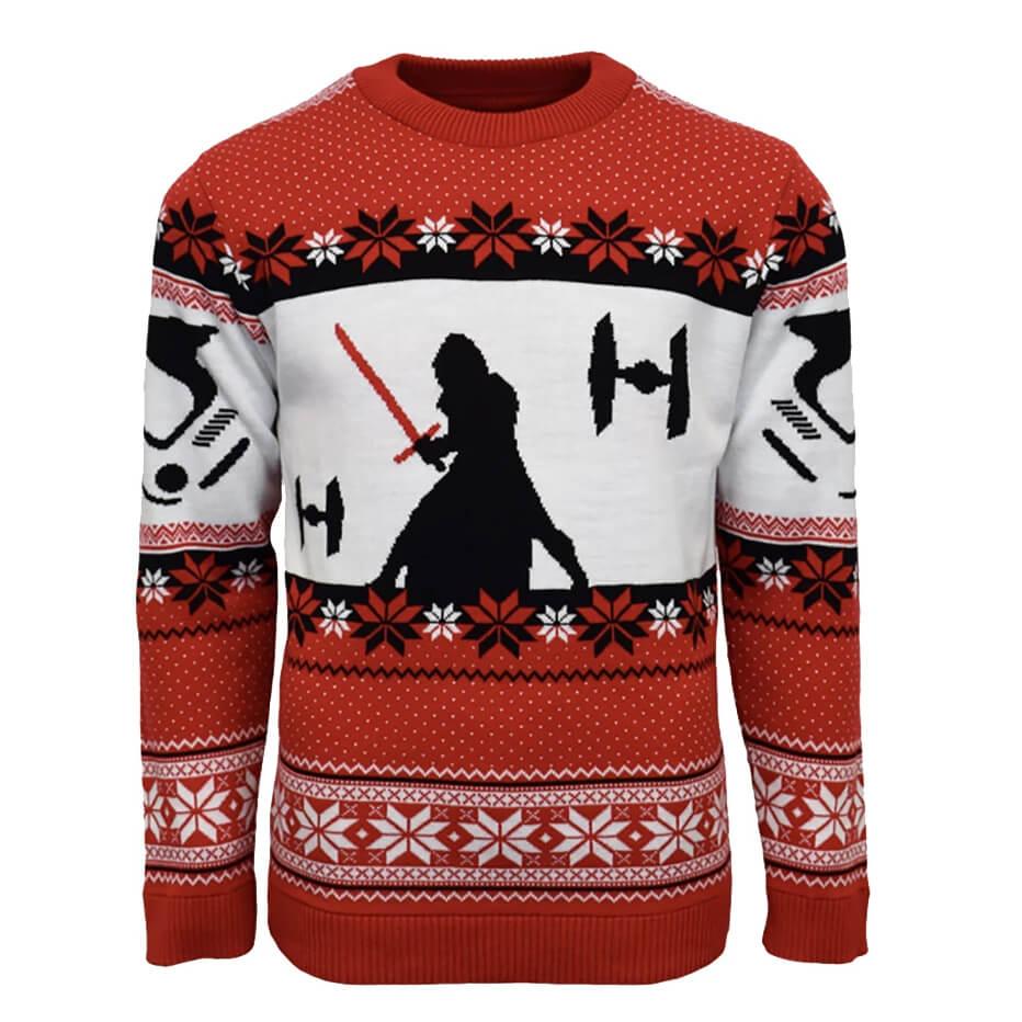 Star Wars Kylo Ren Knitted Christmas Jumper £9.99 @ Zavvi
