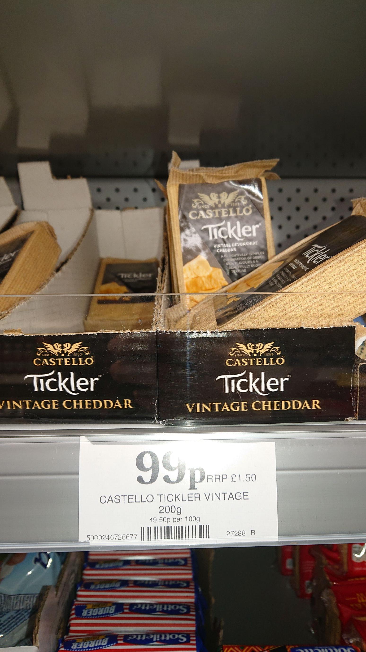Castello Tickler (Extra Mature/5, and Vintage/6) 200g 99p @ Home Bargains (Cheltenham)