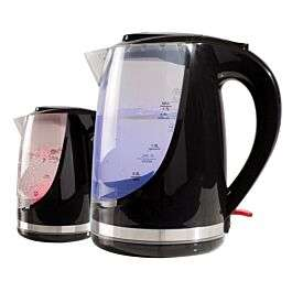 Daewoo SDA1666GE 1.7L Colour Changing Kettle - Black + 2 Year Warranty - £12.74 + Free Click & Collect @ Robert Dyas