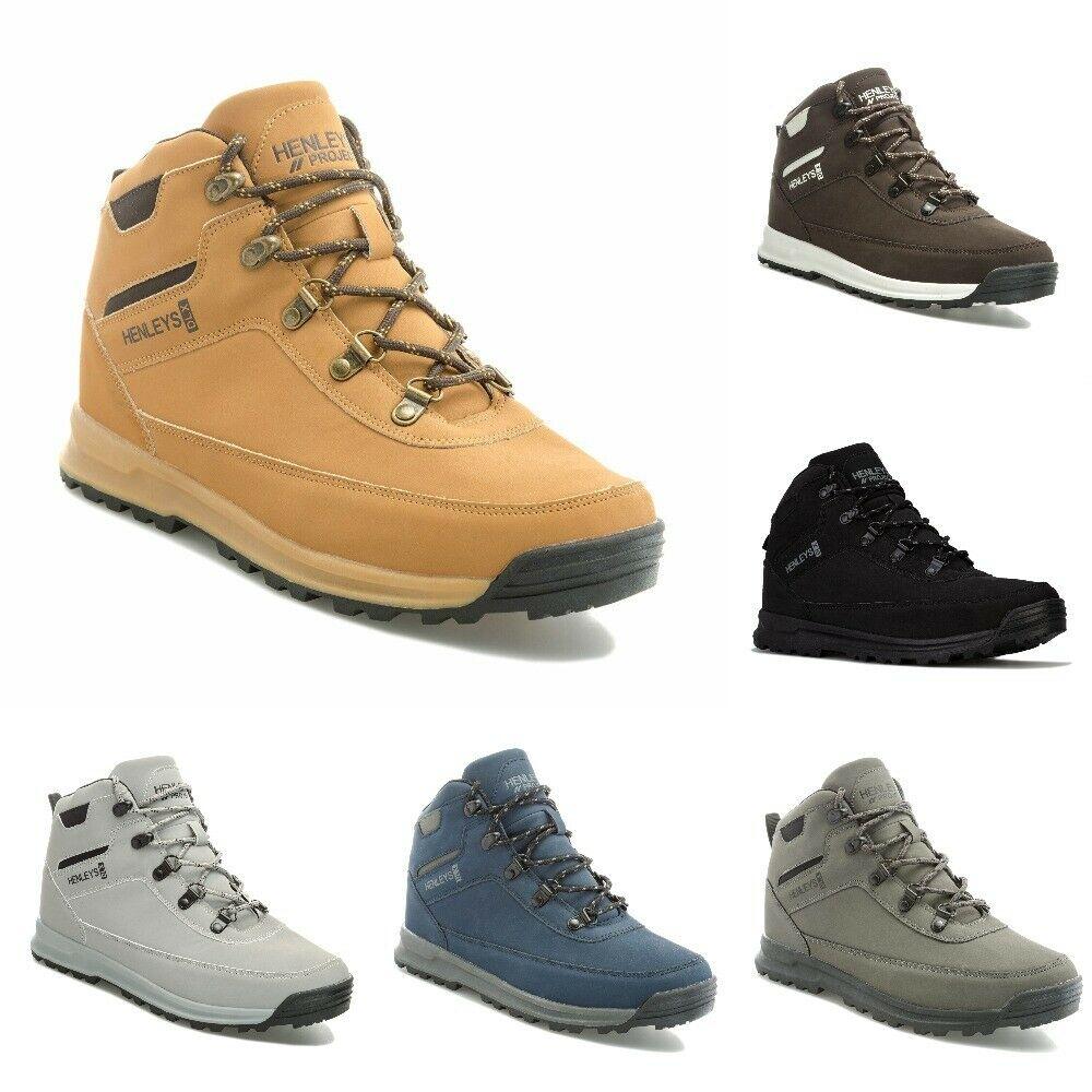 Mens Henleys Travis Boots in Grey, Black, Brown, Honey, and Charcoal now £19.99 delivered @ eBay / gtl_outlet
