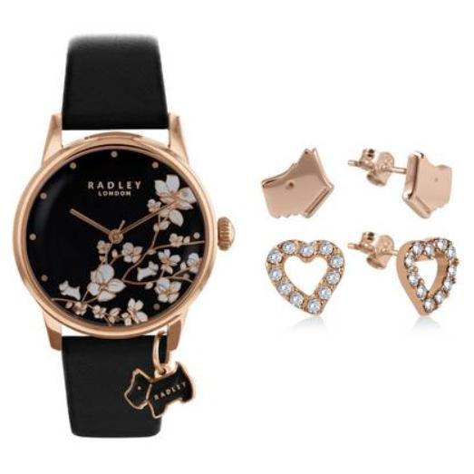 Radley Ladies Black Leather Strap Watch Gift Set £64.99 @ Argos
