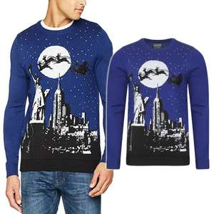 New York Eve Christmas Jumper in Sapphire now £8.00 with code / £9.99 delivered @ Tokyo Laundry