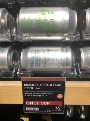 Marks & Spencer Bramley Apple & Pear Cider 4.0% 50p a can