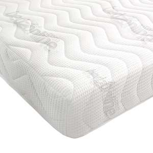 BEDZONLINE 7-Zone Memory Foam Rolled Mattress, Damask, White, King for £44.33 from Amazon