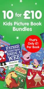 Kids Picture Book Bundles 10 for £10 at The Works (Free C&C or Free delivery with Code)