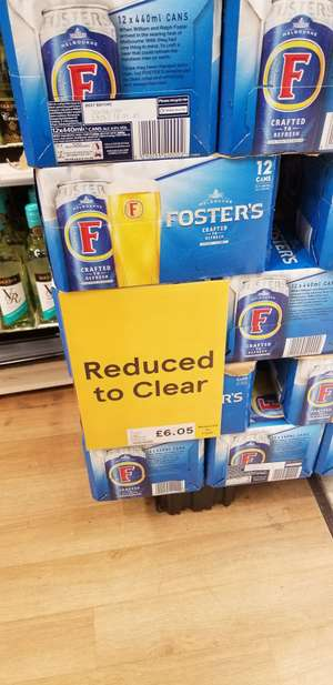 Foster's cans 12x440ml £6.05 instore @ Tesco Extra Cardiff western avenue