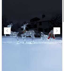 LED Reindeer and Sleigh Outdoor Lights Studio £14.99 + 4.99 delivery Gold or Silver was £34.99