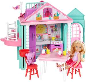 Barbie Dwj50 Family Chelsea Clubhouse Portable Play Colourful