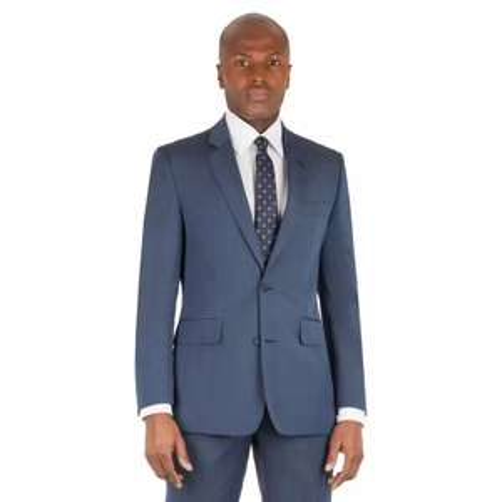 Hammond & Co. by Patrick Grant - Blue Plain 2 Button Front Tailored Fit Sty James Suit Jacket £35 @ Debenhams