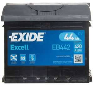 Exide EB442 Excell 063 Car Battery 44Ah 420cca 12V Electrical + 3 Year Warranty - £31.87 with code @ Carparts Bargains (Euro Car Parts) eBay