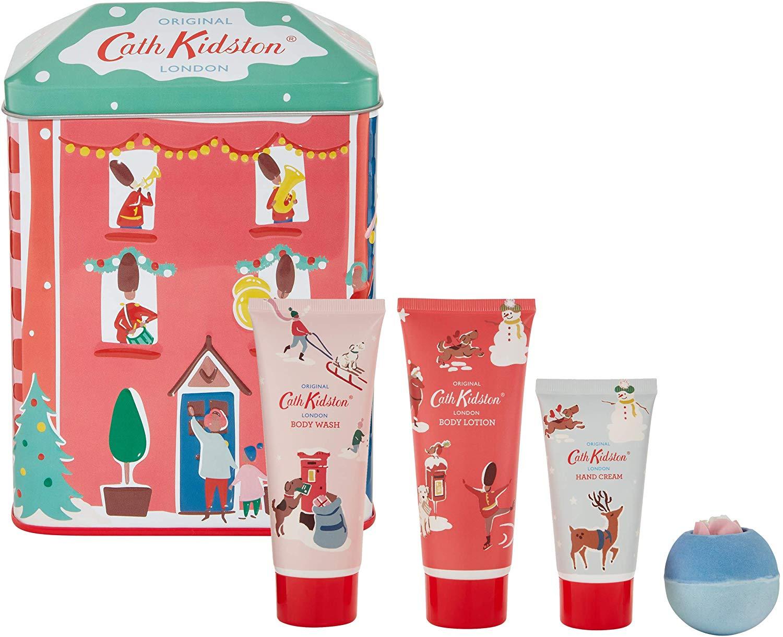 Cath Kidston Beauty Christmas Bathing House Tin at Amazon for £12 Prime (£4.49 non Prime)