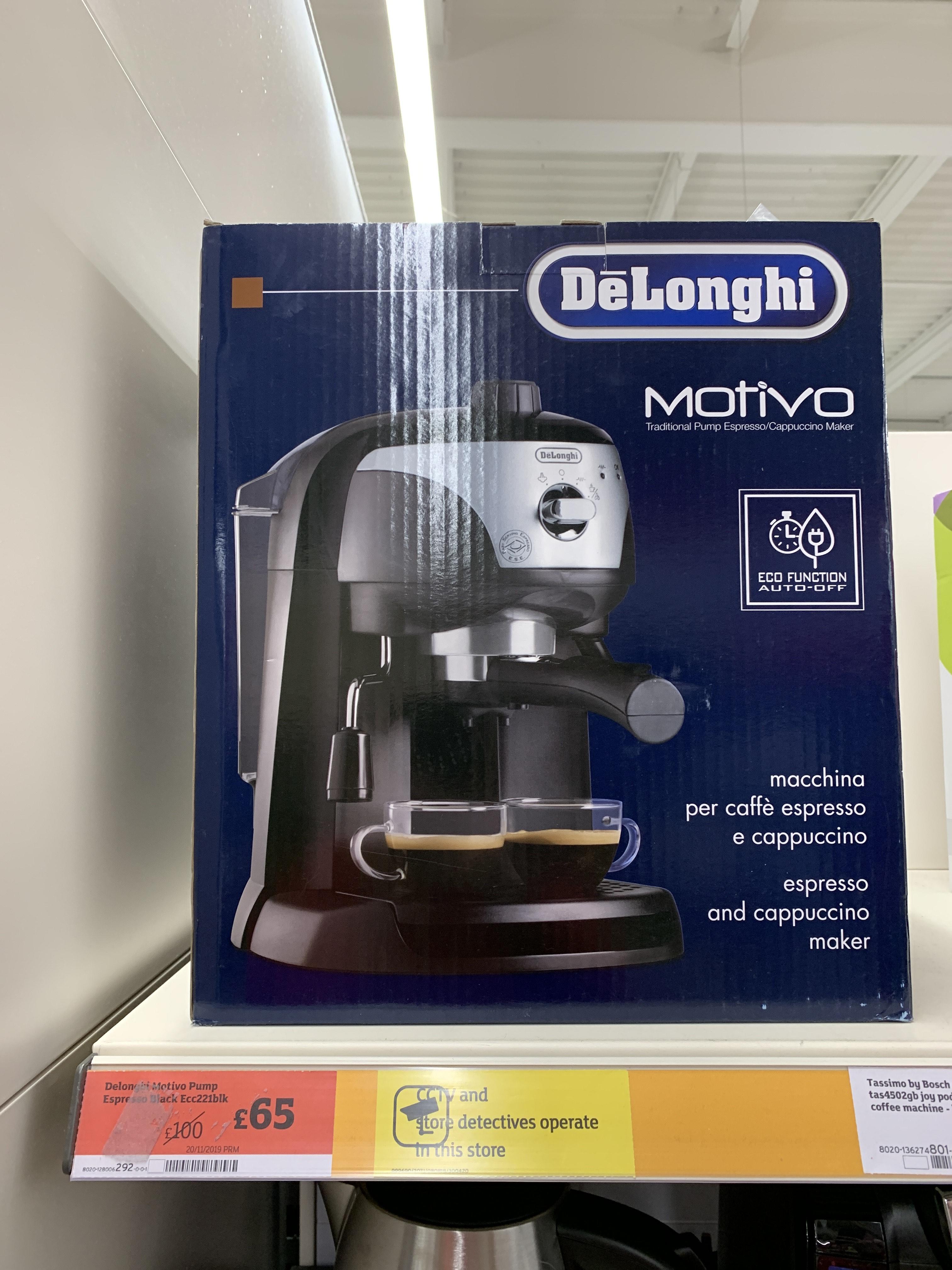 De'Longhi Motivo Espresso Pump - Black £65 at Sainsbury's online/instore