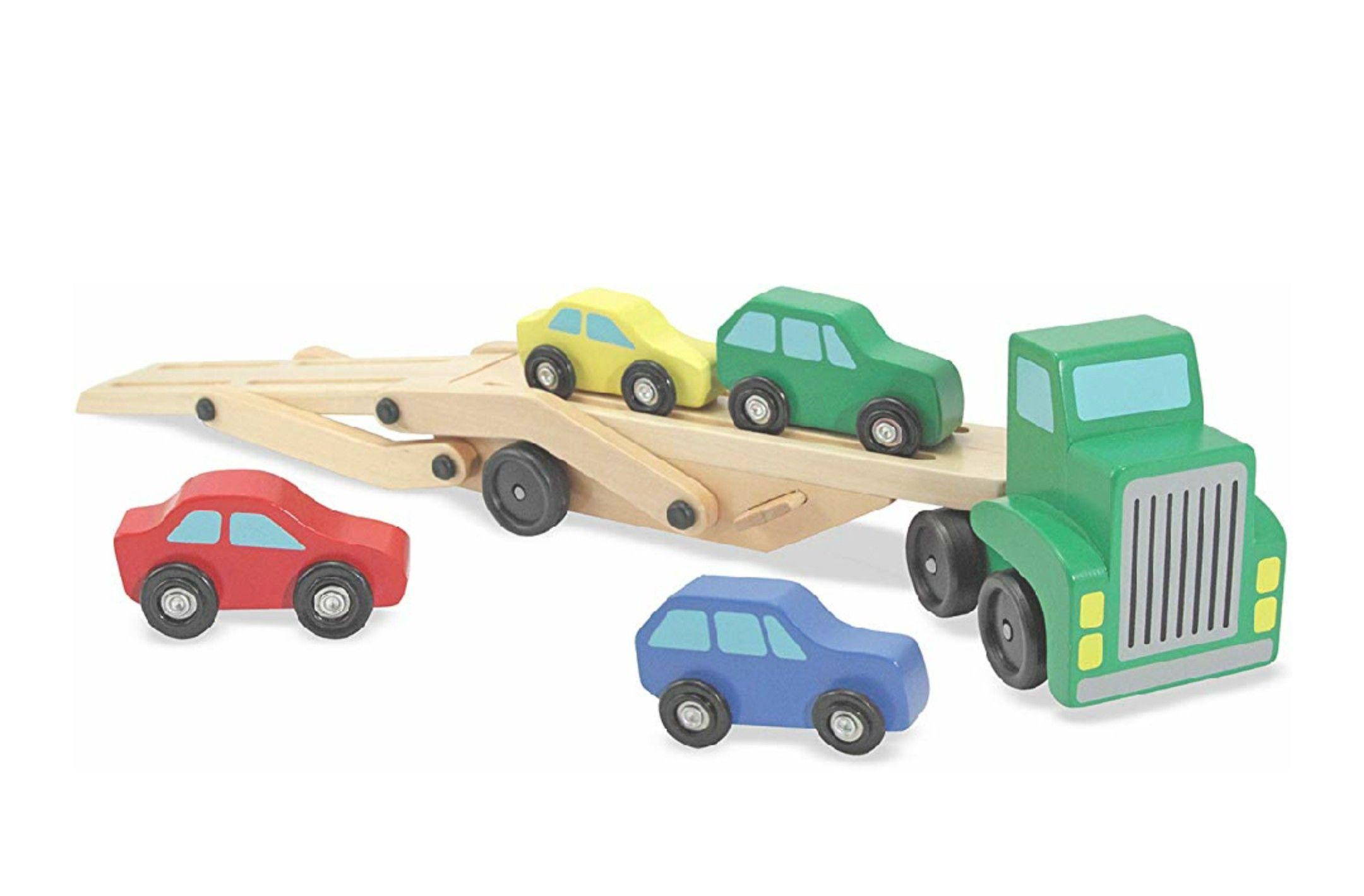 Melissa & Doug Car Transporter Truck & Cars Wooden Toy Set £11.99 Prime / £16.48 Non Prime at Amazon