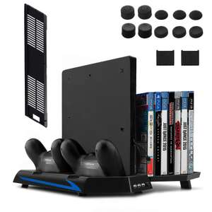 Keten Vertical Stand for PS4 Slim/PS4 with Cooling Fan 2 in 1 Controller Charging Station £14.39 Sold by Hugo Camp and Fulfilled by Amazon