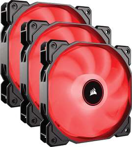 Corsair AF120 Air Series, 120 mm LED Low Noise Cooling Fan - Red (Triple Pack) £21.99 at Amazon