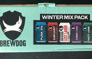 Brewdog Winter Selection Pack 10x330ml cans £12 at Morrison's national