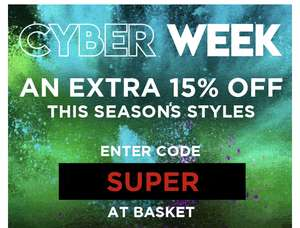 Cyber Week SALE + Extra 15% off with code at Regatta Shop