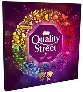 £1.25 Quality Street Chocolate Christmas Advent Calendar, 222 g + £3.99 delivery or free del. over £40 at Amazon Prime Now