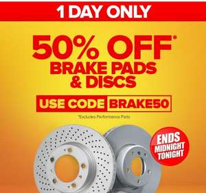 50% off brakes discs and pads using code + free click and collect in store @ Euro Car Parts