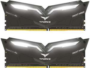 Team Group T-Force Nighthawk White LED DDR4-3000 CL16 16 GB(2x8GB) Memory Kit £59.99 at Amazon