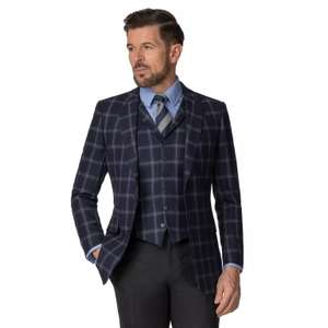 Hammond & Co. by Patrick Grant - Navy Flannel Windowpane Jacket - £35 + free Click and Collect @ Debenhams