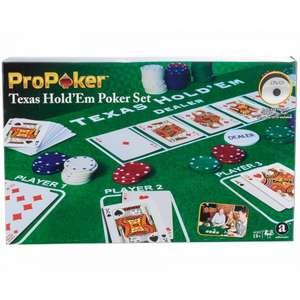 Texas Hold Em Poker Set with 200 playing chips for £3.24 @ Ryman (free click + collect)