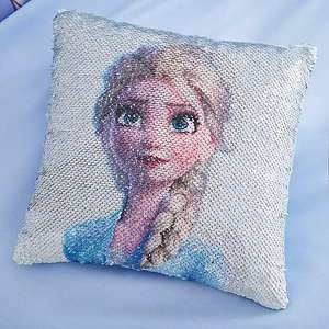 Frozen 2 Anna and Elsa sequin cushion - £10 + free Click and Collect @ Dunelm