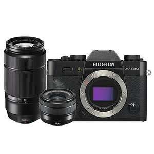 Fujifilm X-T30 Mirrorless Camera in Black with XC15-45mm and 50-230mm Lenses £999 + £150 cashback@ Jessops