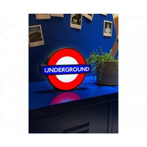 TFL Mini Underground Roundel Lightbox £12.74 with code @ Robert Dyas - (Free Click and Collect)
