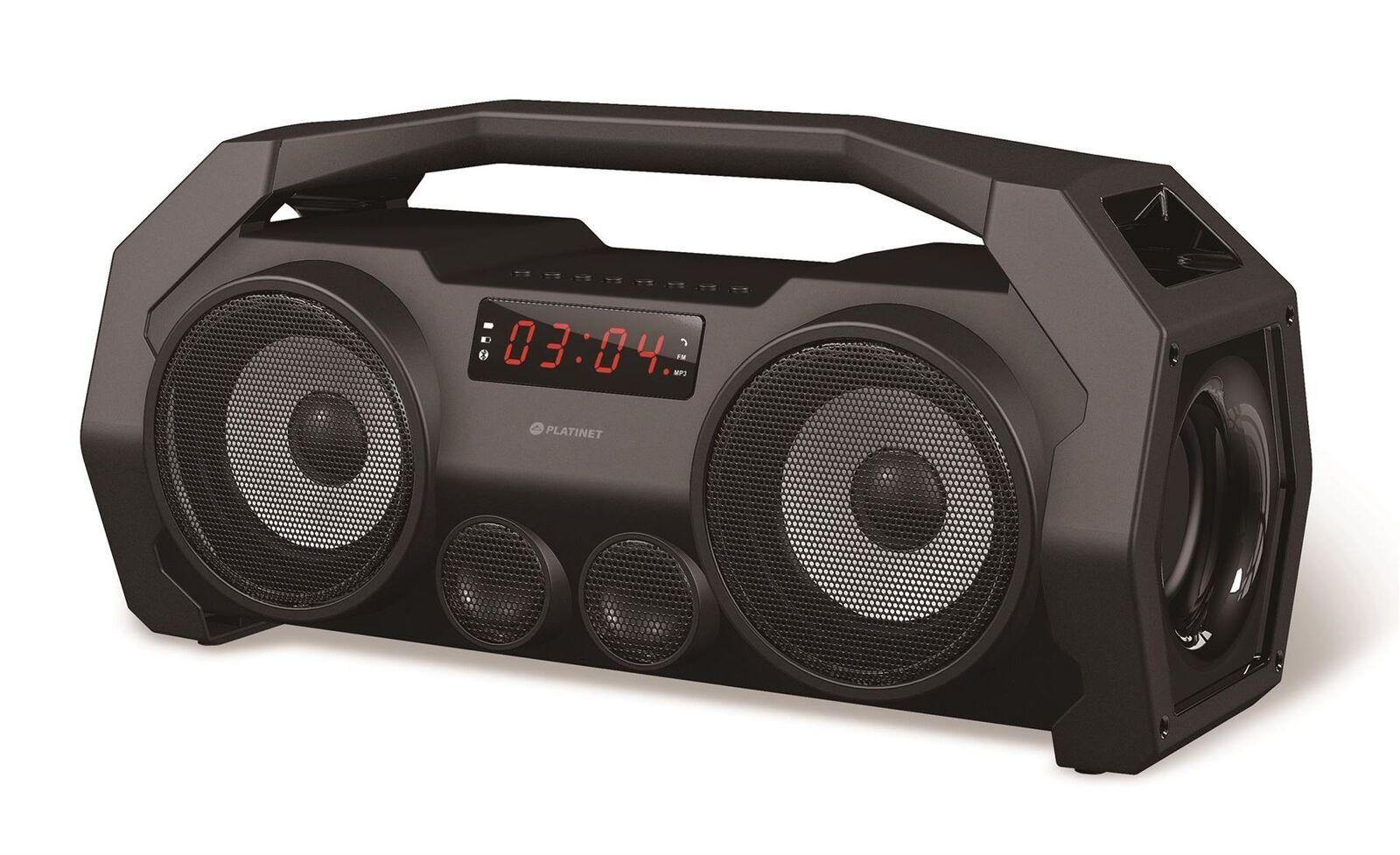 Platinet Boombox Portable Stereo Bluetooth Speakers Megasound Hi-Fi Super Bass - £46.99 delivered @ ezoneuk / eBay